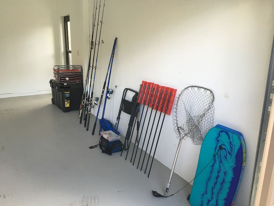 Fishing and beach equipment-  just grab and go!