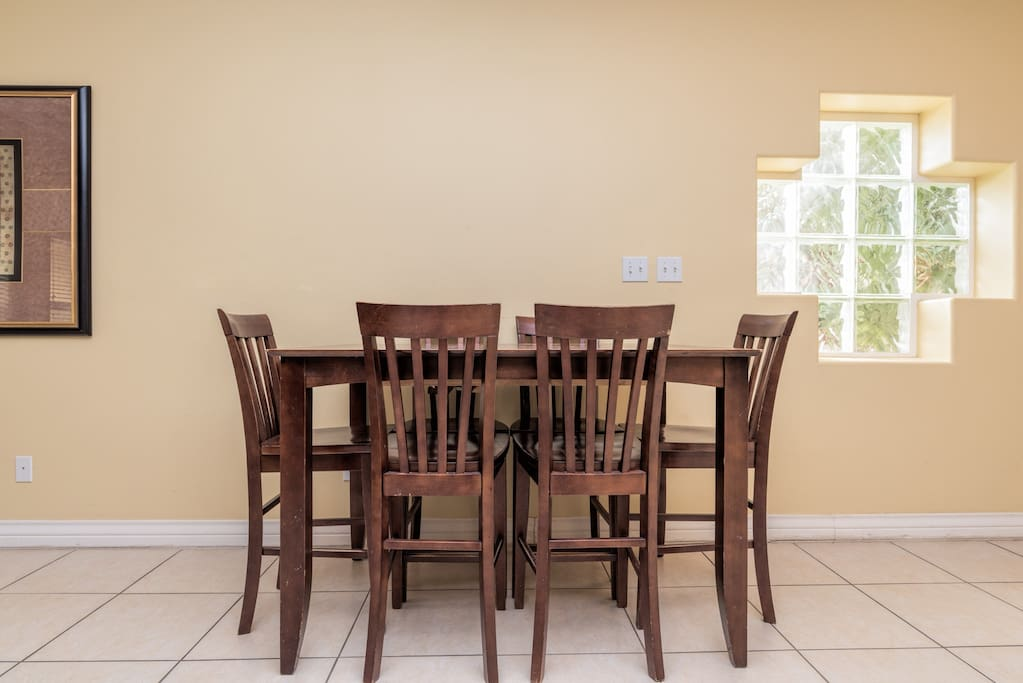 Wood dining table for 6