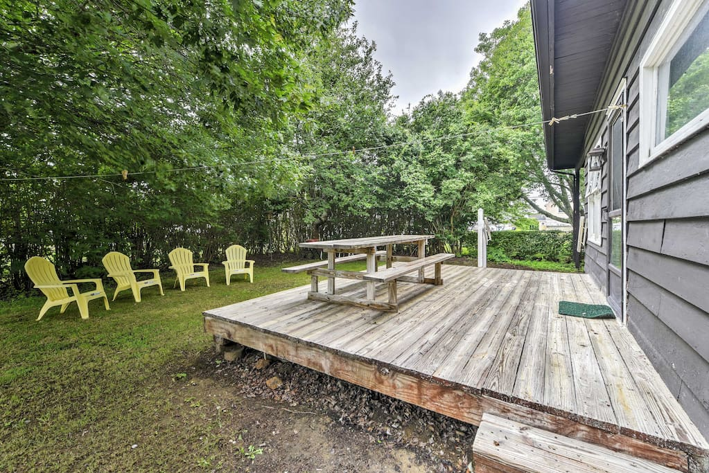 Look forward to hanging out on the back deck and in the spacious backyard.