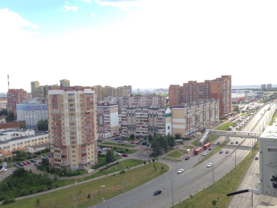 Вид с балкона - ИКЕА, Мега, Волга