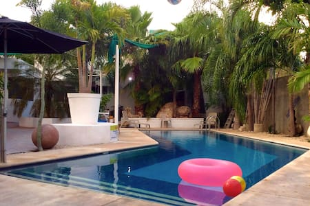 2 br apartment w wonderful pool & mayan greenery - Mérida - Apartament
