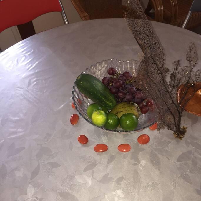 Des fruits et légumes de saison offerts à l'arrivée