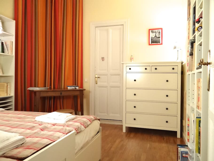 A lot of storage, wardrobes, drawer-chests in each bedroom