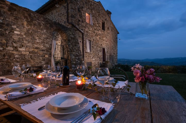 Villa for 10+ with spectacular view on Chianti - Tavarnelle Val di Pesa - Rumah