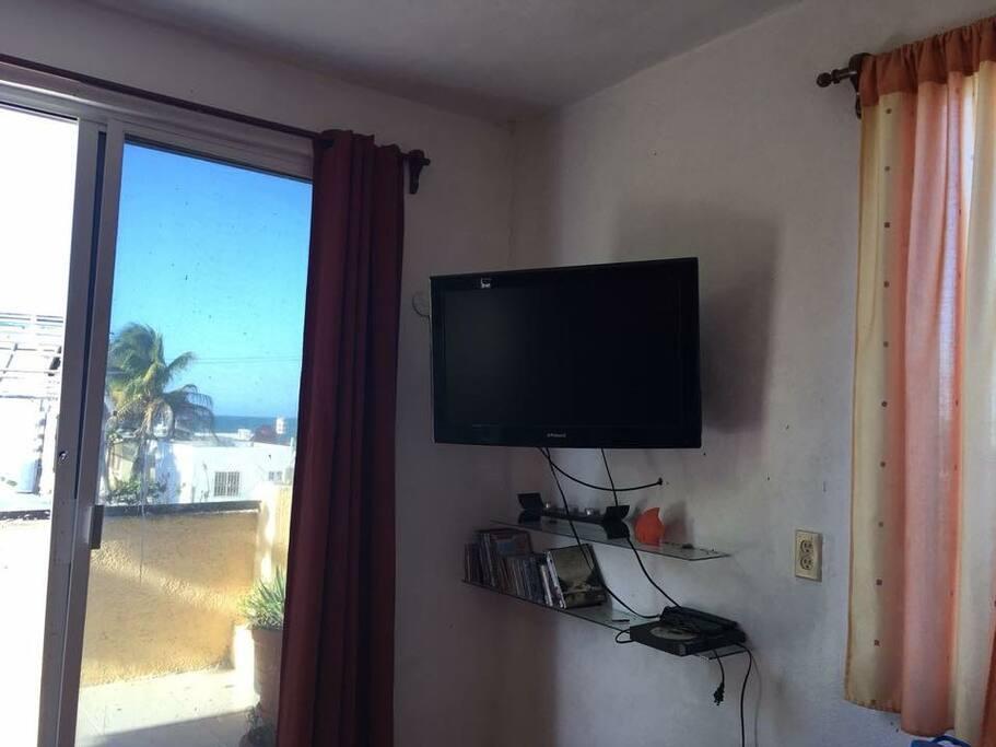 Televisor del dormitorio