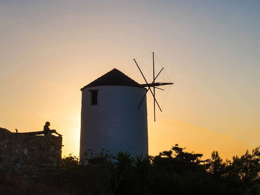 Sunrise at the windmill