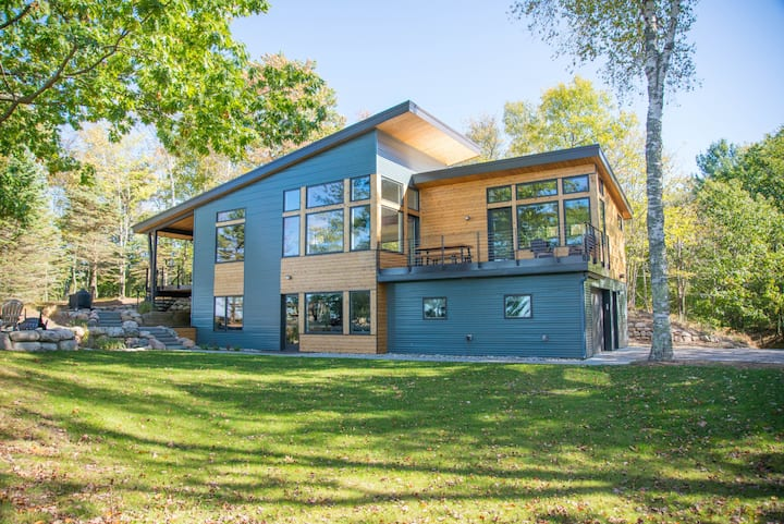 Modern Luxury Home with Private Lk MI Frontage