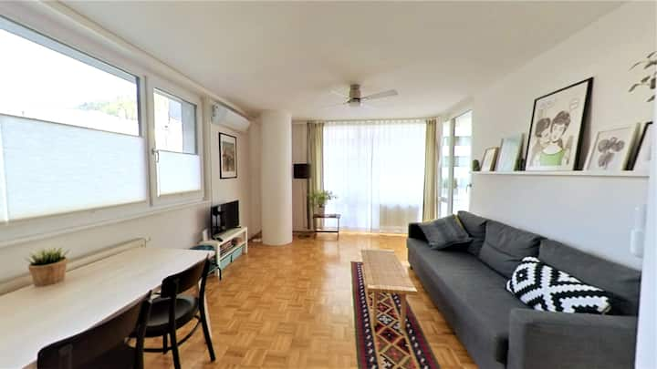 City Apartment Salzburg - Balcony, Free Parking!