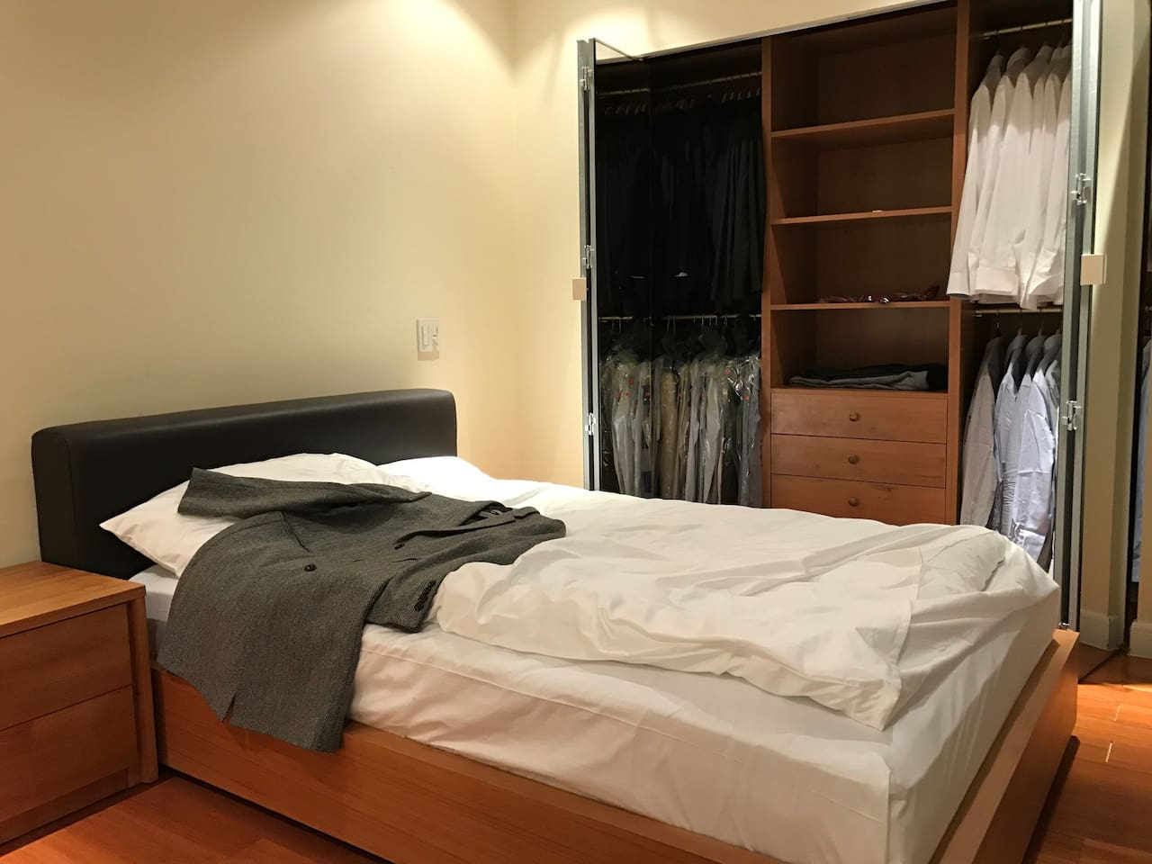 Own closet & drawers with great view