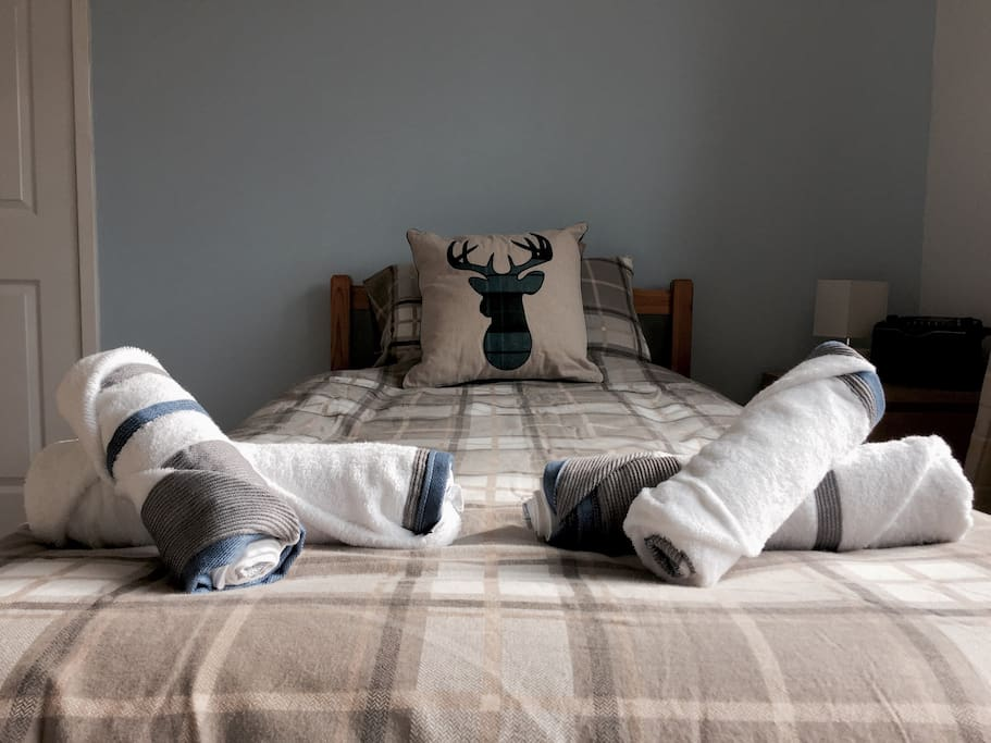 Your bed for the evening, with fresh bed linen and new towels daily.