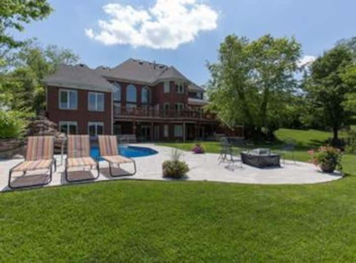 Gorgeous Lake Home with Pool on Horse Farm