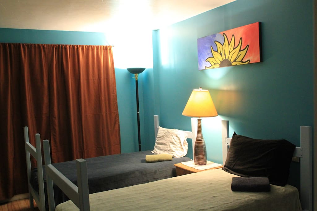 Your room with twin beds