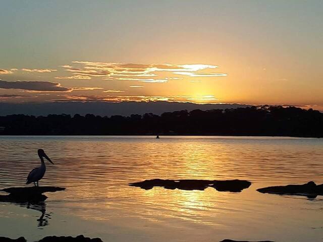 Enjoy amazing  sunsets over the lake