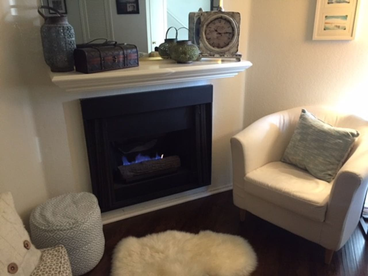 Cozy up next to the fireplace and relax!