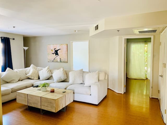 Open with natural light near the beach!