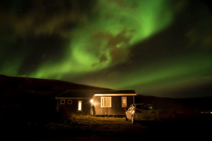 Peaceful cosy cabin, amazing view - Akureyri - Blockhütte