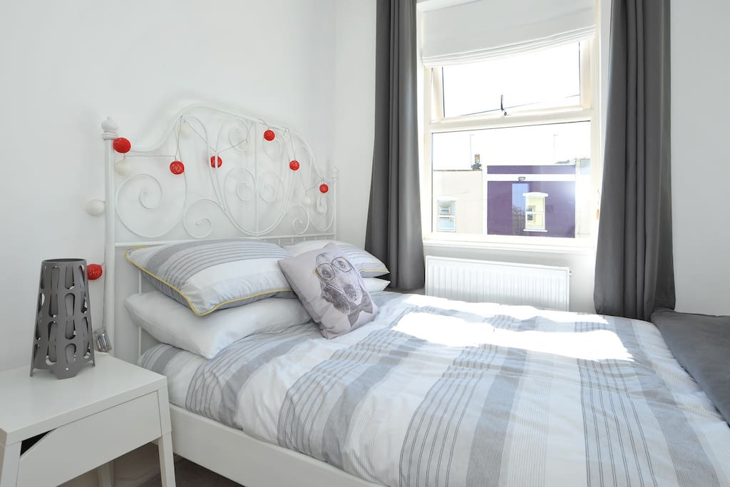 Bijou bedroom with comfortable standard double sized bed.