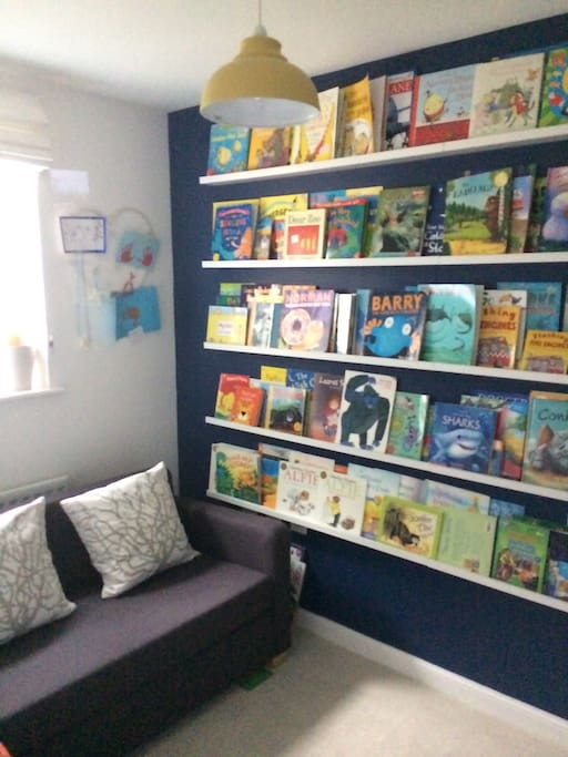 Children's library and sofa bed