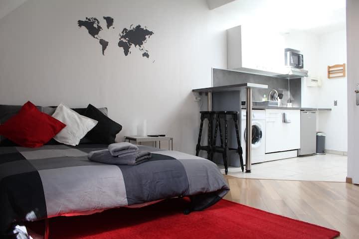 Studio écolo - Coeur de ville - Confort+ - Netflix