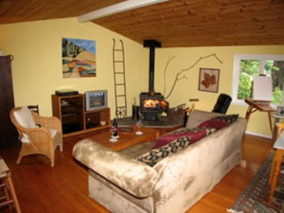 Living Room and Gas Stove