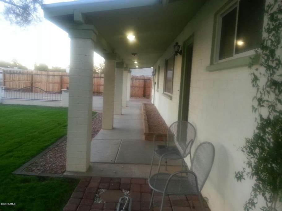 Front patio - enjoy beverages and reading early weekend mornings and evening sunsets.