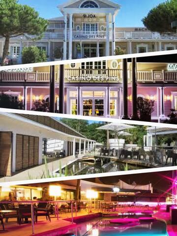 Le Casino des pins est juste à côté, vous pourrez jouer, boire un verre et même danser en discothèque !