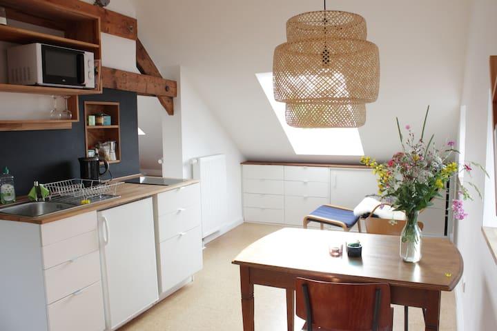 Schöne Wohnung unterm Dach