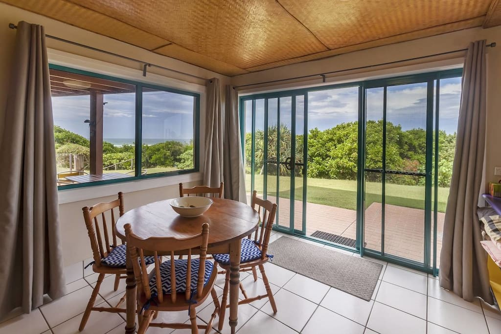 Dinning Area with Sea Views