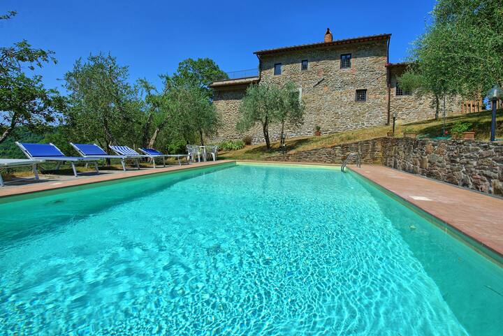 Poggio Conca - Holiday Country House with private swimming pool in Chianti, Tuscany