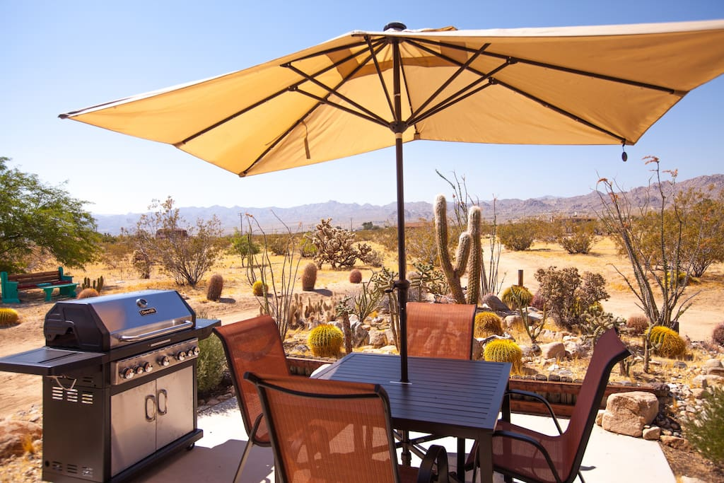 Dining patio - BBQ or simply enjoy the view