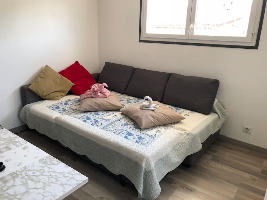 Canapé/lit 2 places