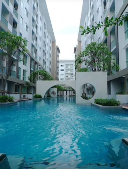 swimming pool in front of your room