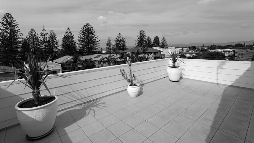 Upstairs Rooftop Terrace.