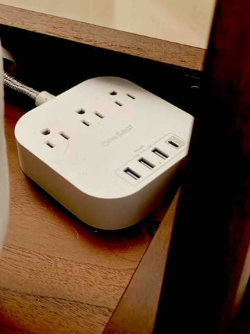 Chargers are waiting at every bedside.