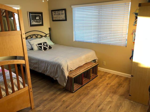 3rd Bedroom AKA Bunk Room with a Queen (super Comfortable Memory Foam)