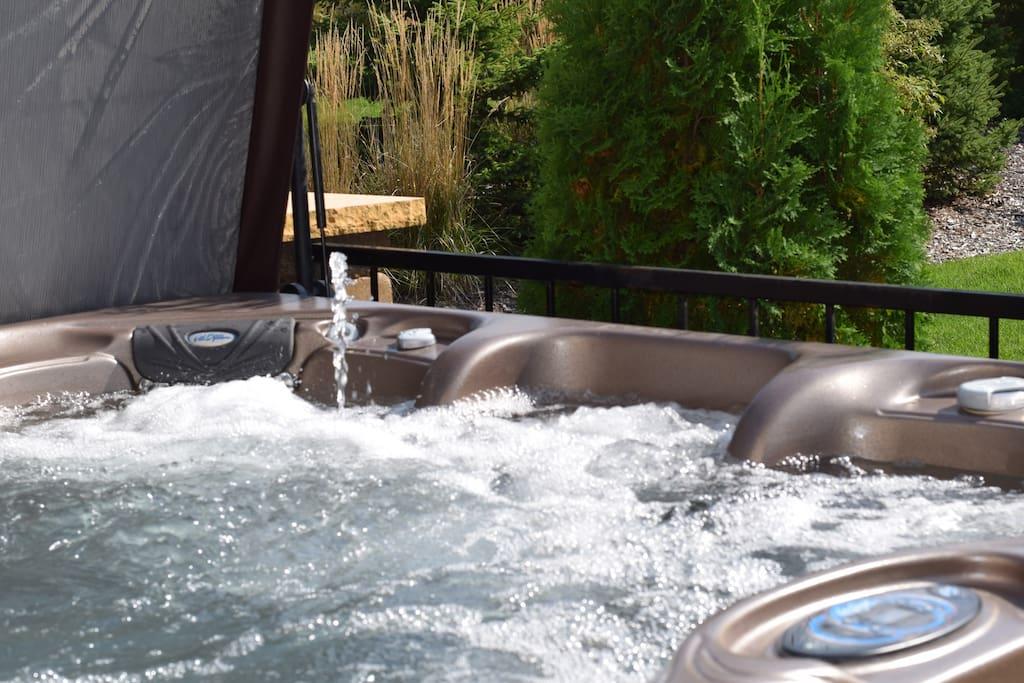 Hot tub bubbles!
