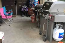 Front porch, bbq with stove top burner.