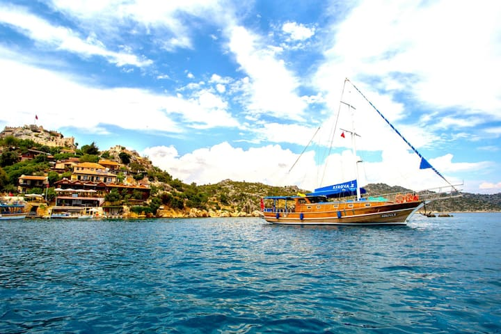 Gulet kekova2 in Kekova marina - Demre - Boat