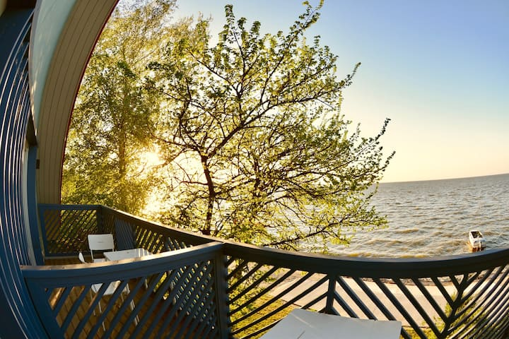 Lagoon view apartment in Curonian spit