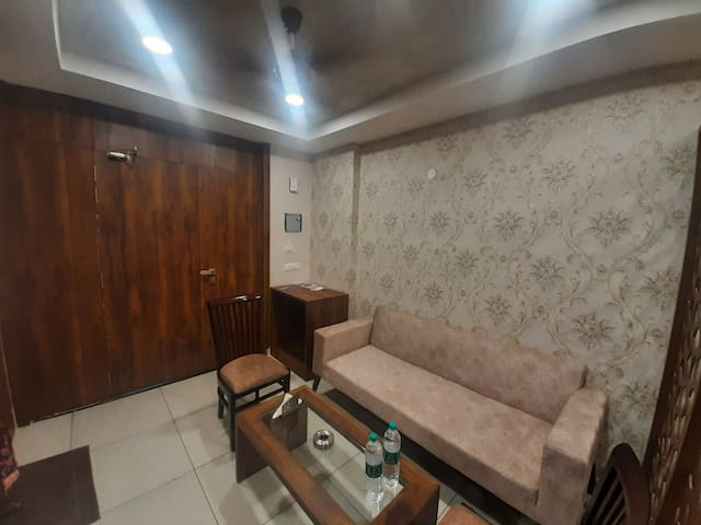 Sitting Area For 4to5 Persons With Light Partisan...