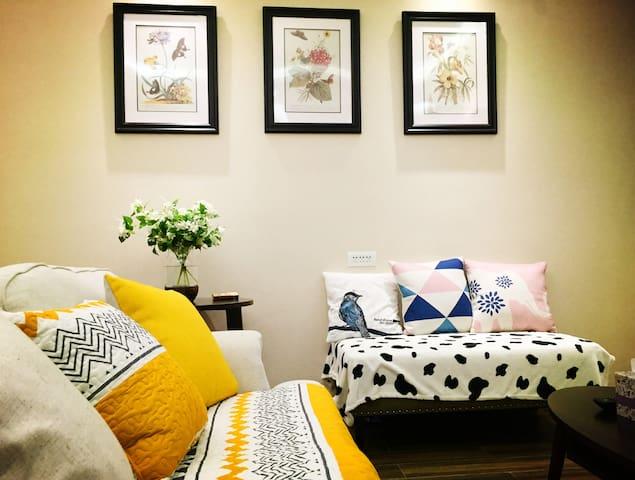 『你在崇礼的家』【简雪·壹】精致美式两室一厅公寓/滑雪/温泉/深呼吸