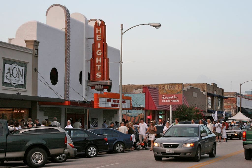 Visit historic Houston Heights only minutes away