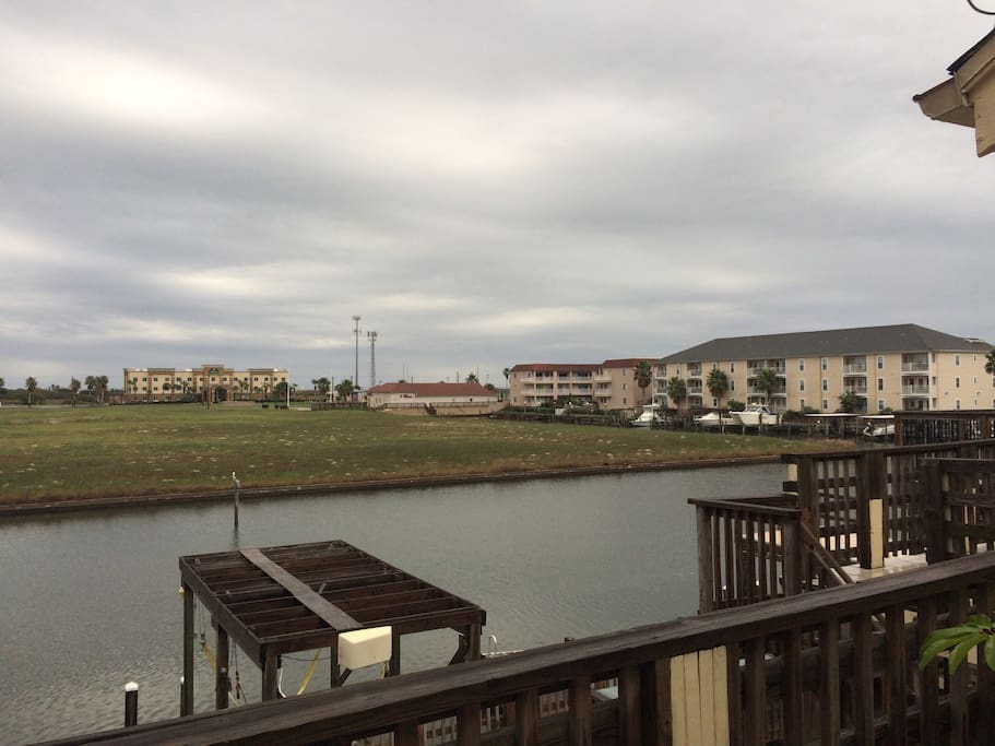 Canal View from outdoor patio and dining room off of the kitchen.  Great view to enjoy breakfast in the mornings!
