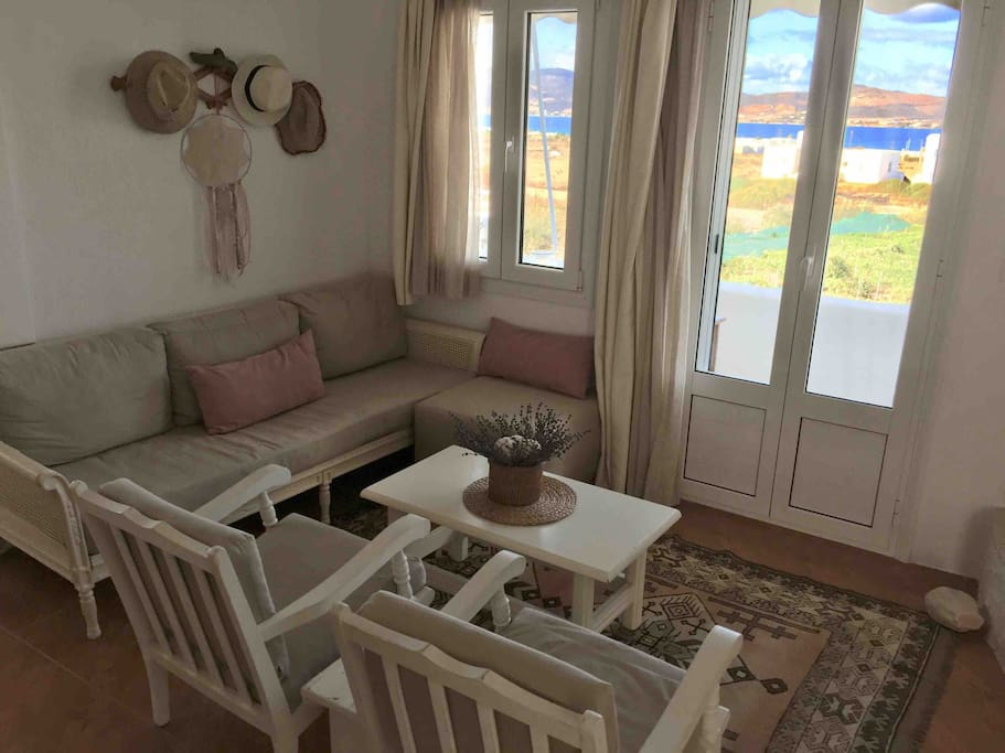 Living room | Antiparos island view