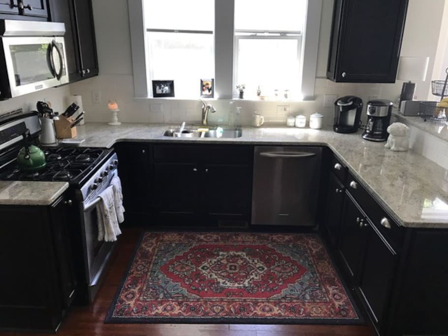 Plenty of space to cook family breakfasts