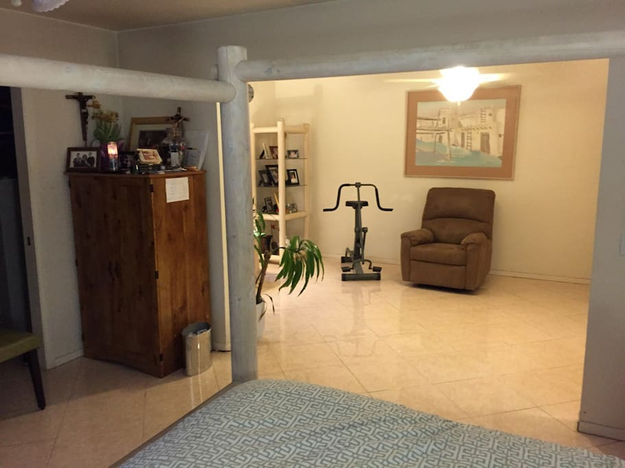View from Masterbedroom to Master Livingroom