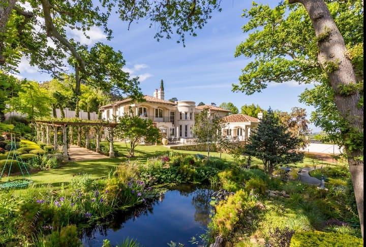 Luxurious Villa has gate onto Groot Constantia