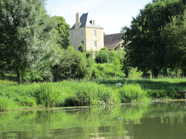 Tower manor along a river - Chemiré-le-Gaudin - Rumah