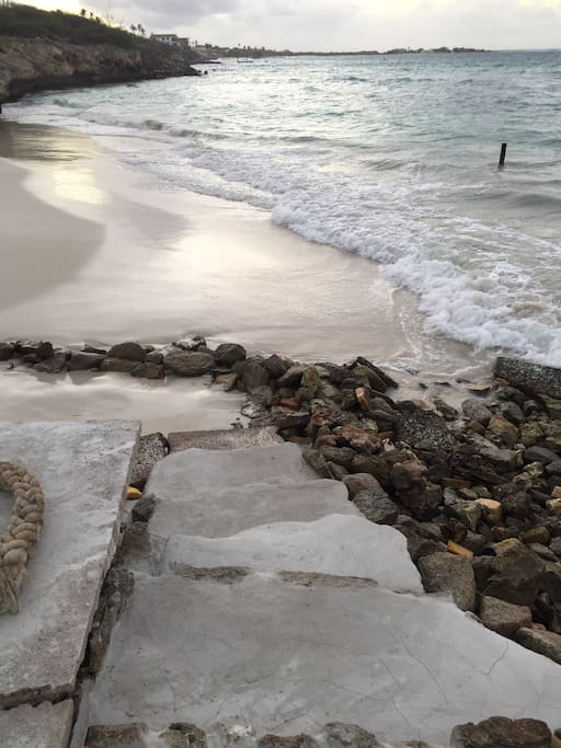 Direct access to beach with brand new steps