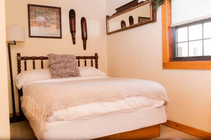 Full bed in main floor bedroom